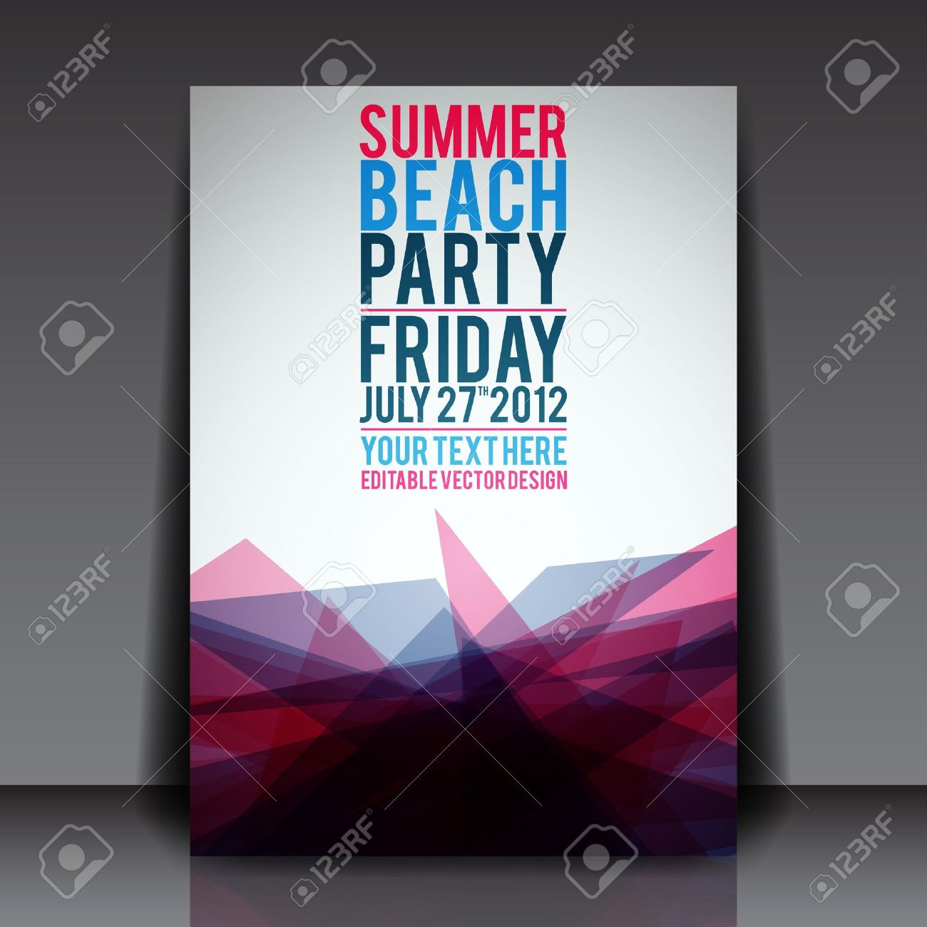 Abstract Summer Party Flyer Template Royalty Free Cliparts ...