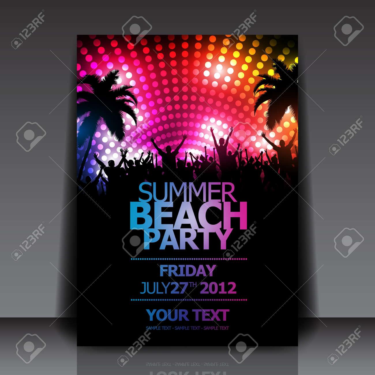 Summer Beach Party Flyer Template - 14428923