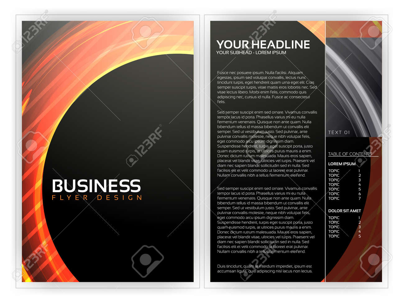 Business Flyer Template Stock Vector - 14429179