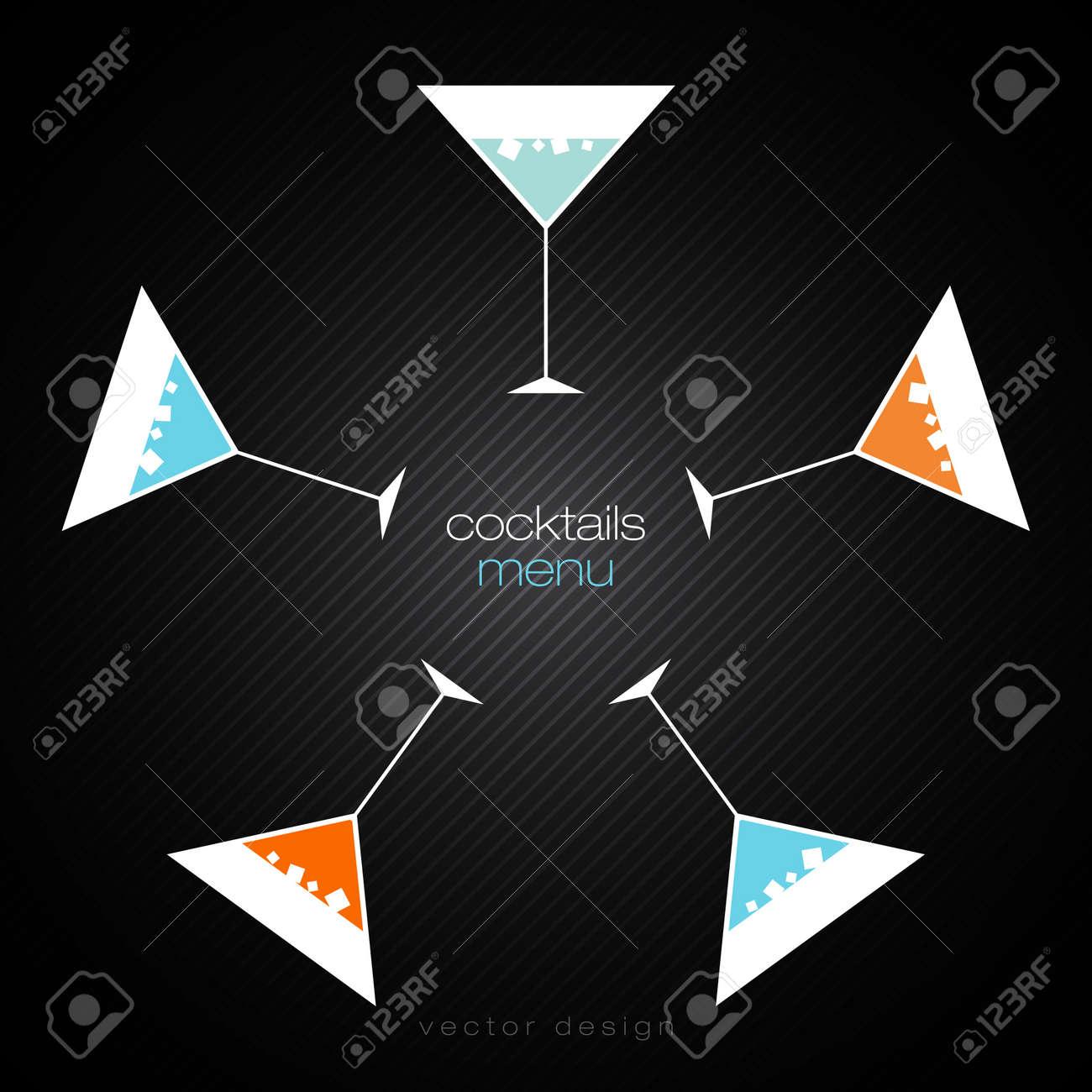 Cocktails Menu Card Design Template Stock Vector - 14422074