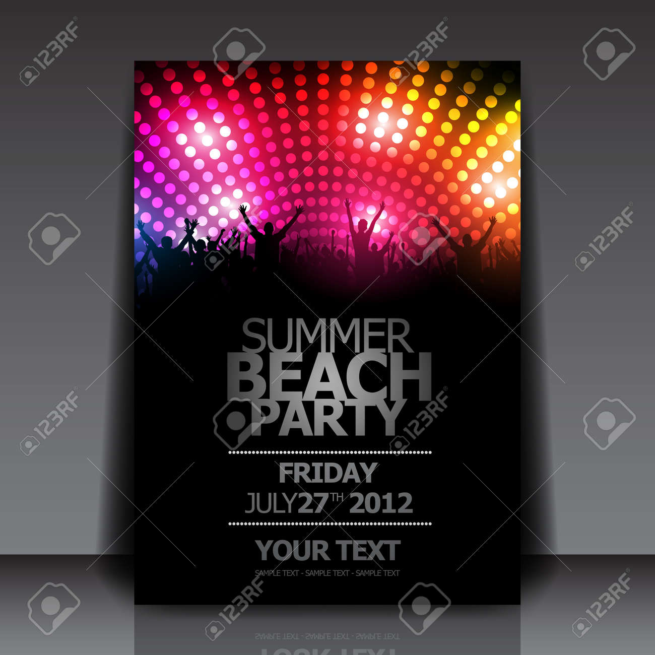 party flyer background anuvrat info summer beach party flyer template vector design royalty