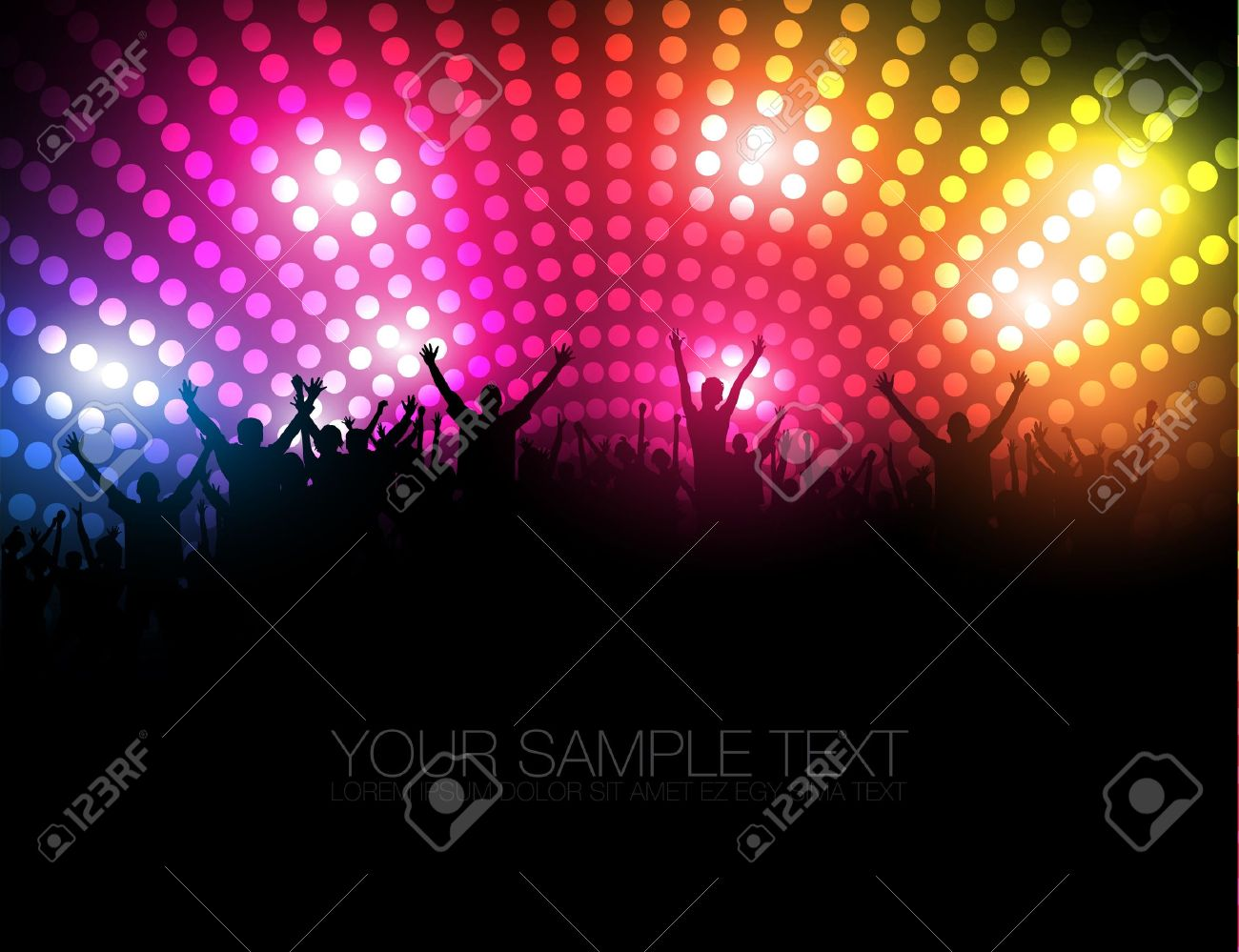 Party People   Background - Dancing Young People Stock Vector - 14430849