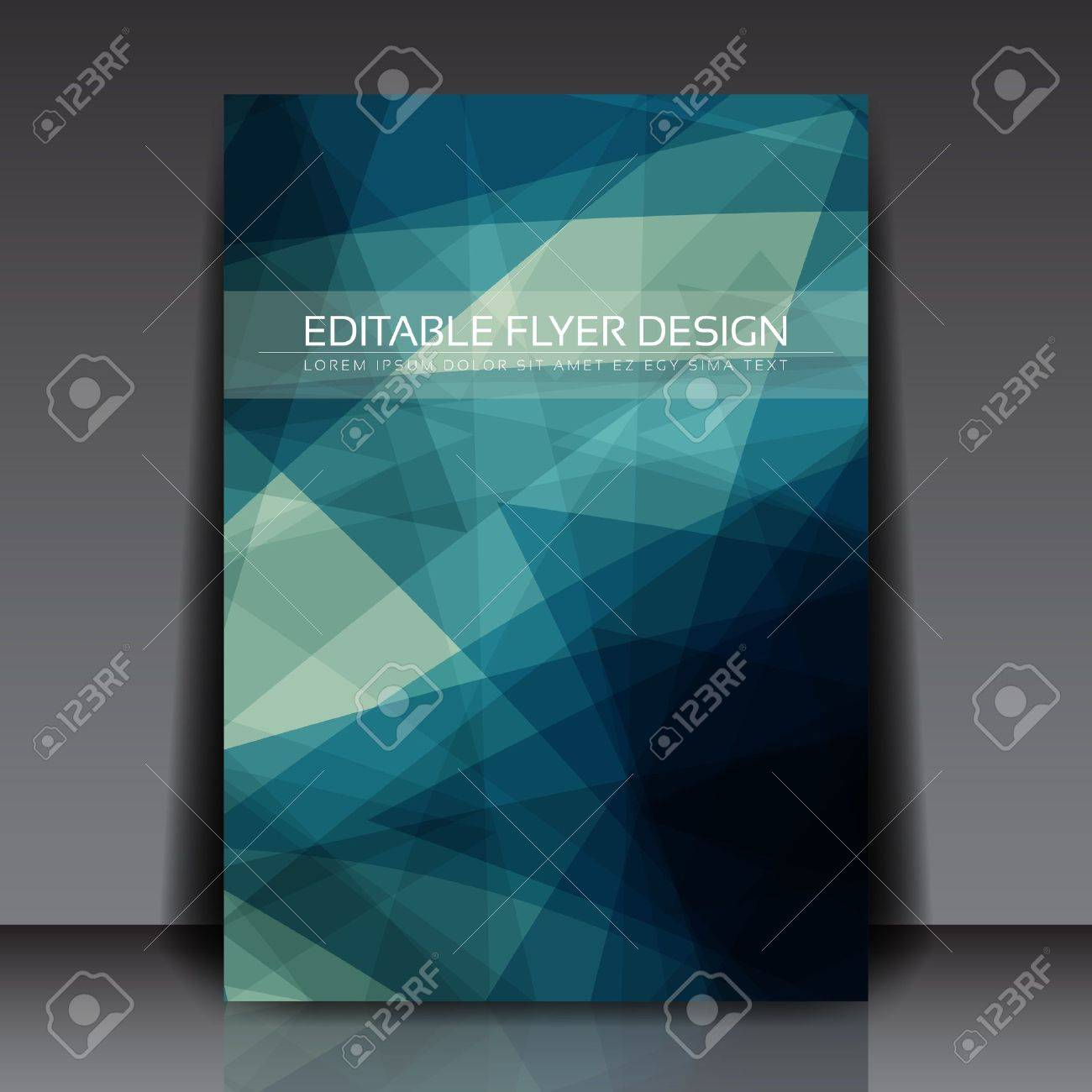 Abstract Blue Flyer Royalty Free Cliparts, Vectors, And Stock ...