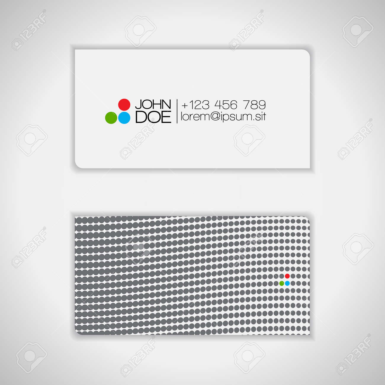 Dots Design Business Card Stock Vector - 14425229