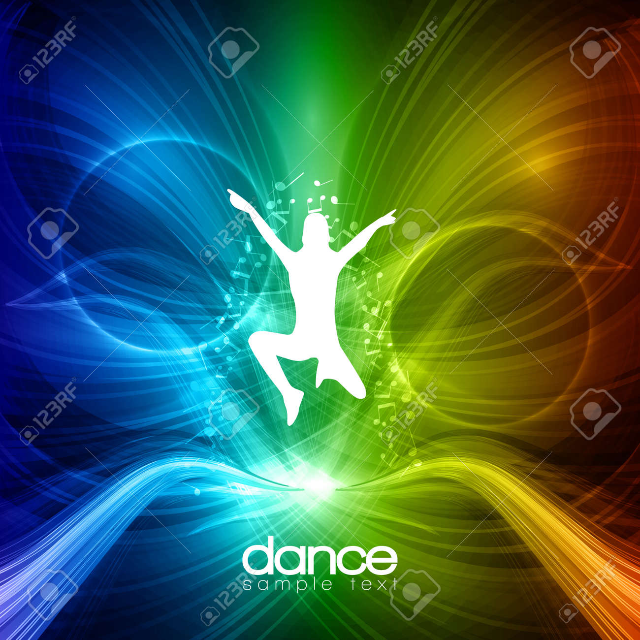 Party People   Background - Dancing Young Men Stock Vector - 14431208