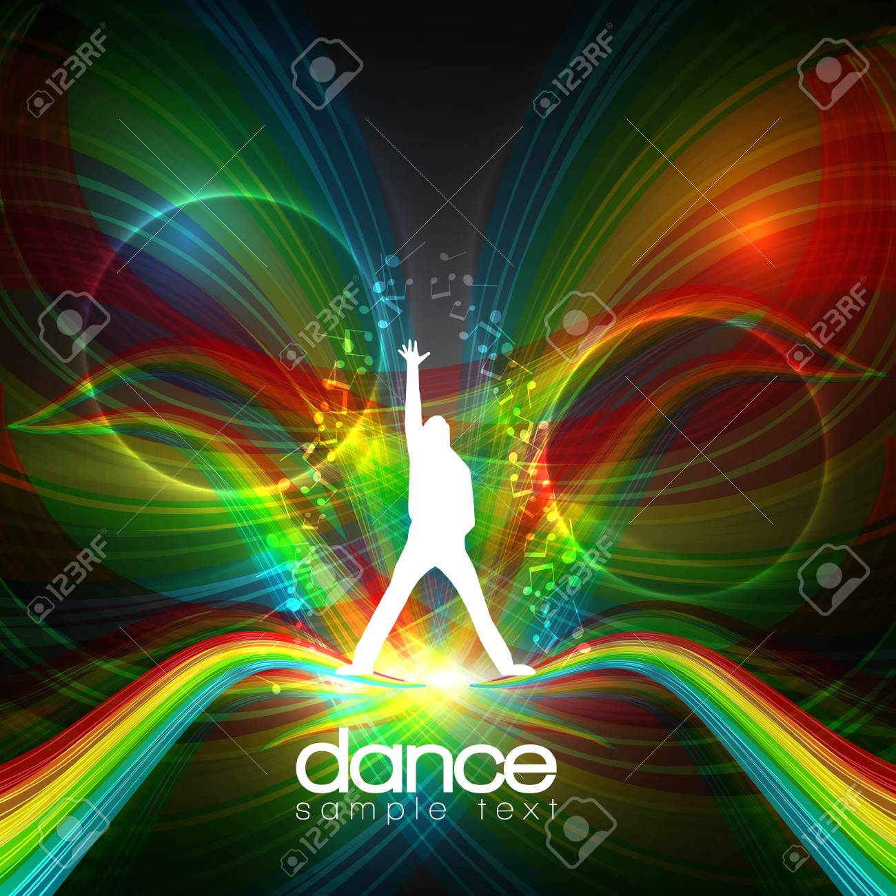 Party People   Background - Dancing Young Men Stock Vector - 14430805