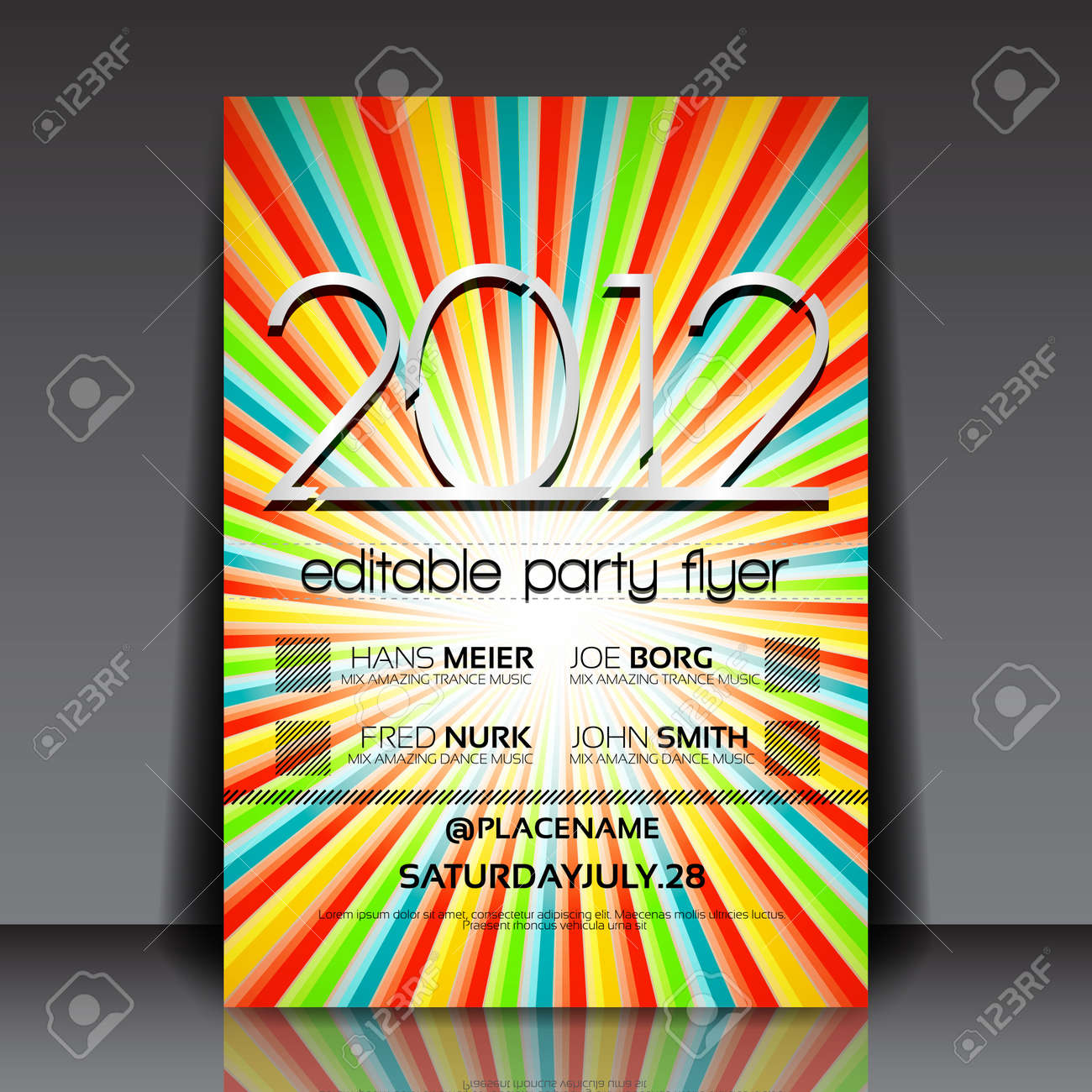 Design for summer party flyer vector Stock Vector - 14427361