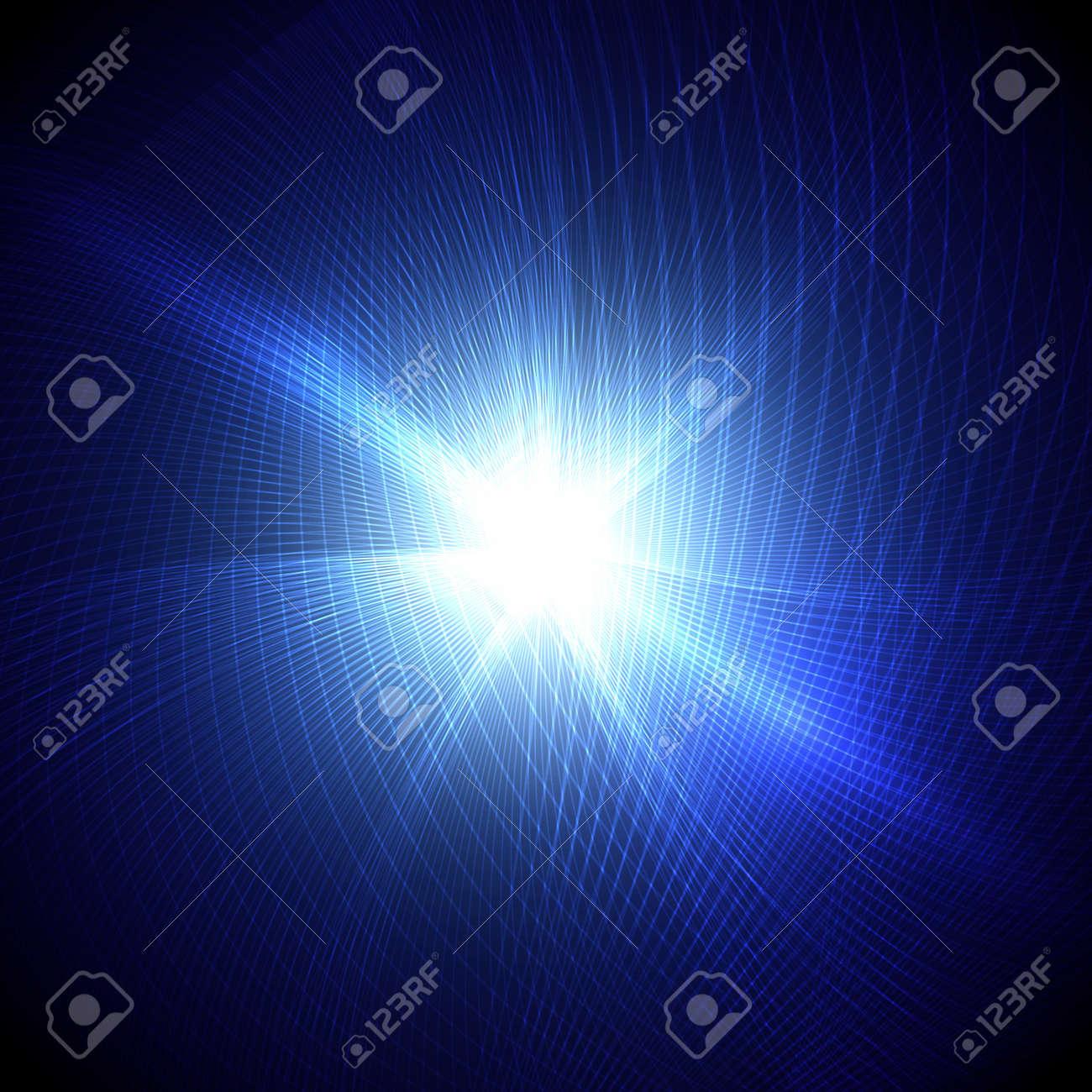 Blue burst Stock Vector - 14430179