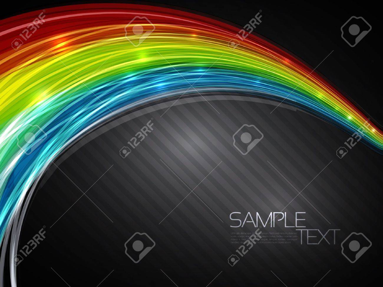 Abstract background with 3D rainbow lines   illustration Stock Vector - 14422294