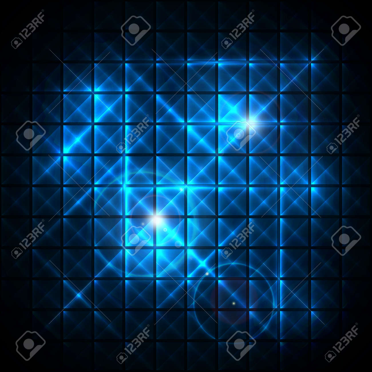 Abstract Neon  mosaic background Stock Vector - 14430040