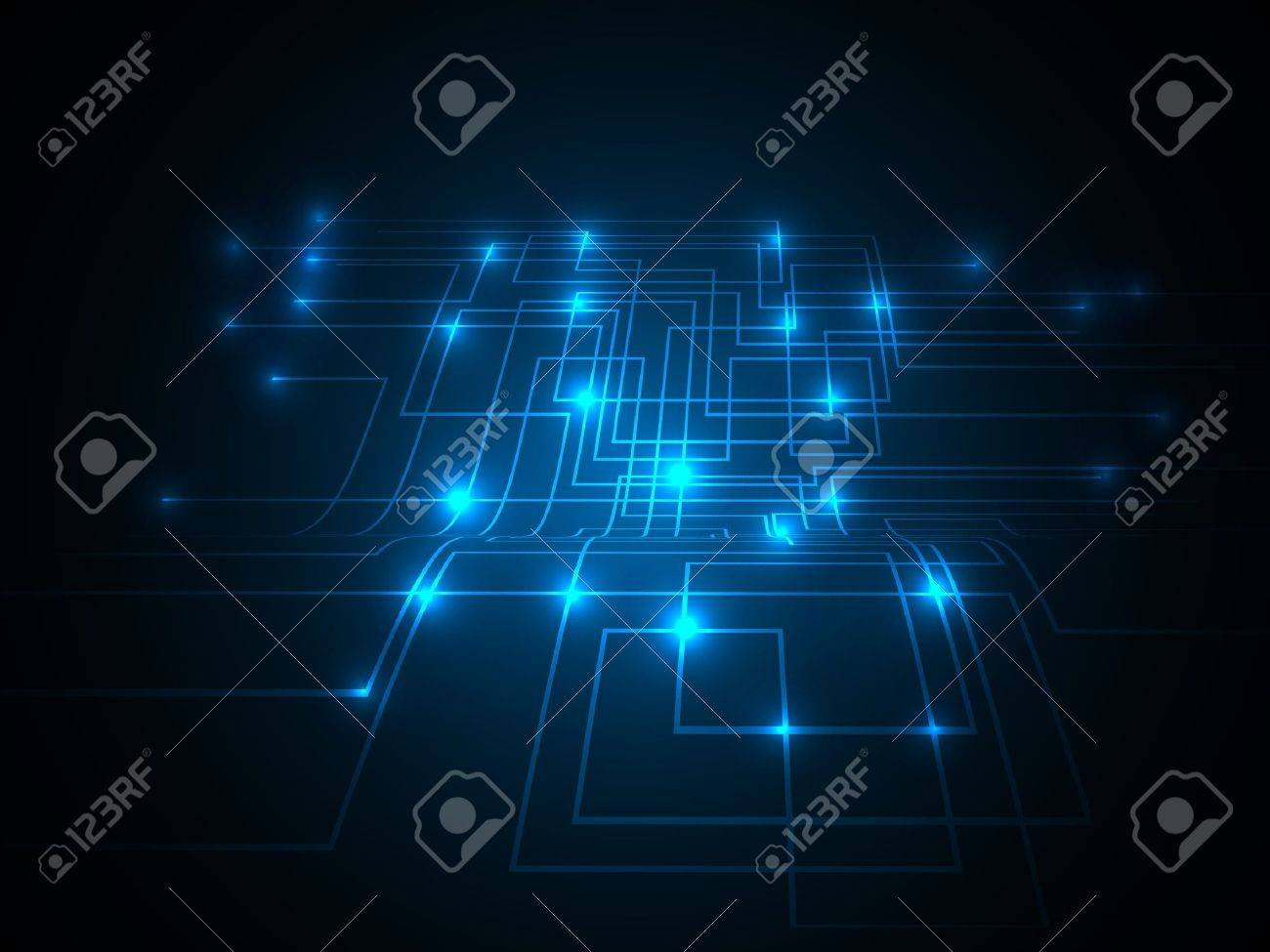 3D Colorful Network  Design Stock Vector - 14430123
