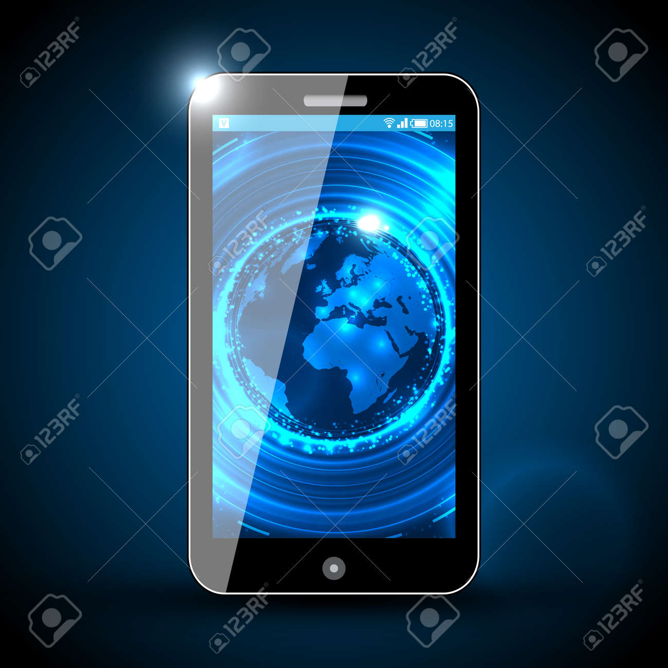 Mobile Phone - Traveling  Design Stock Vector - 14753306
