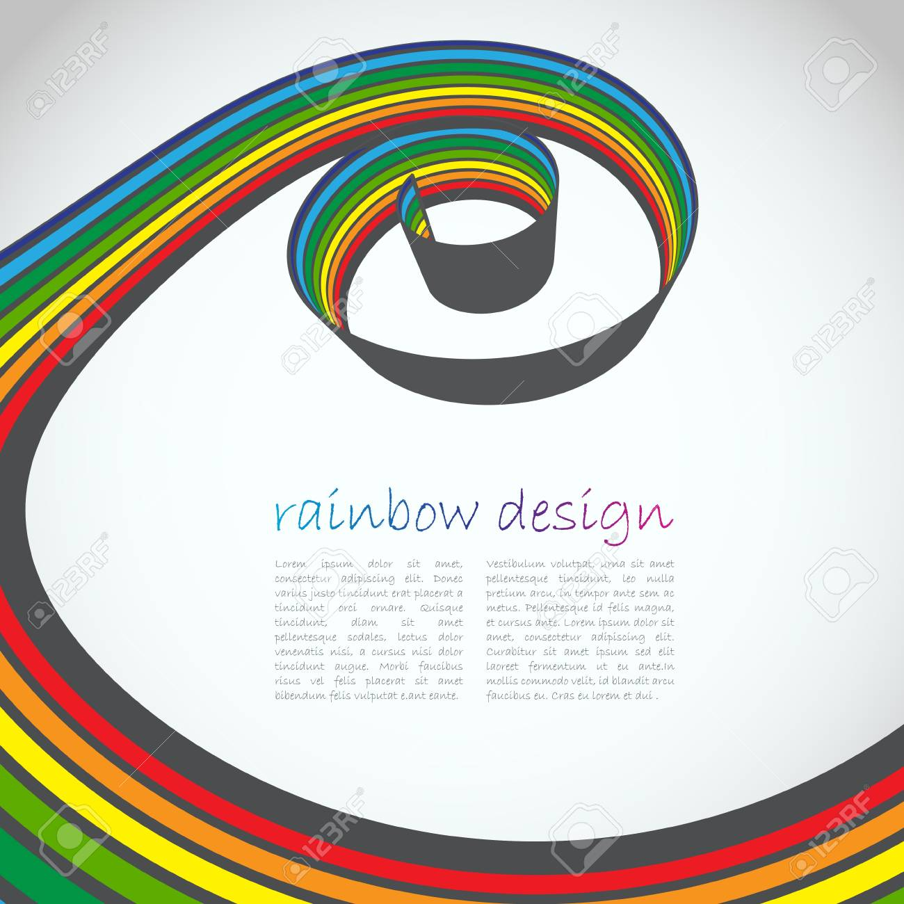 Swirl Line Design Stock Vector - 15282510