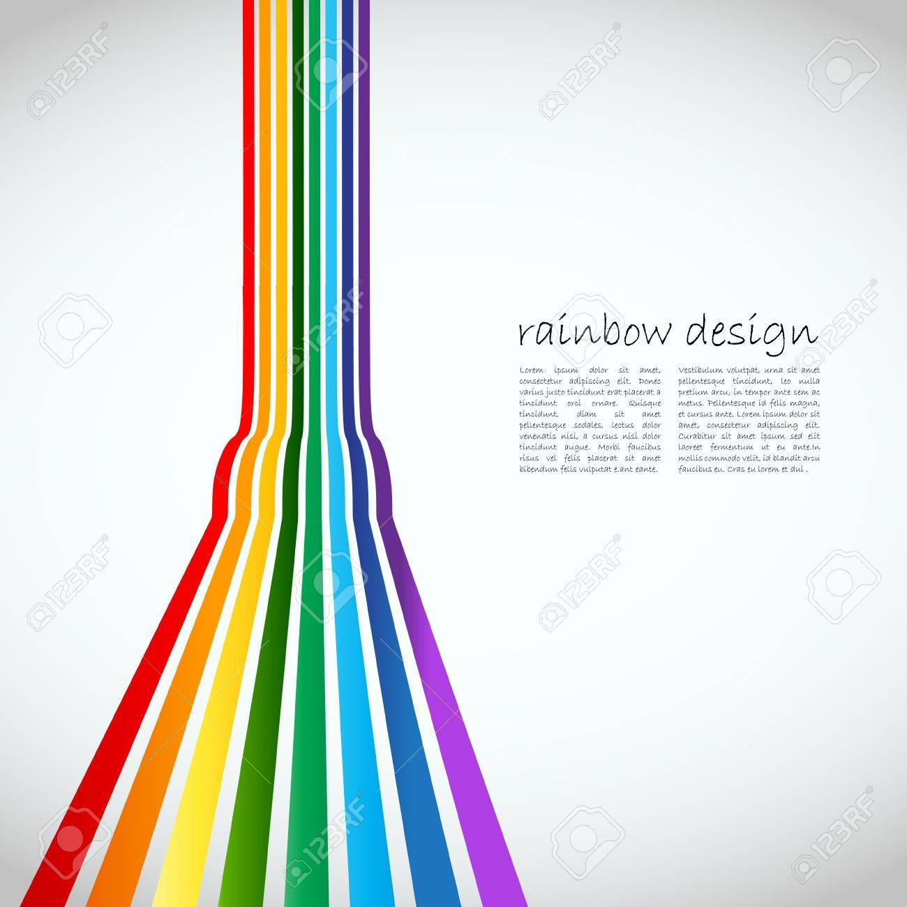3D colorful lines on grey background illustration Stock Vector - 15282501