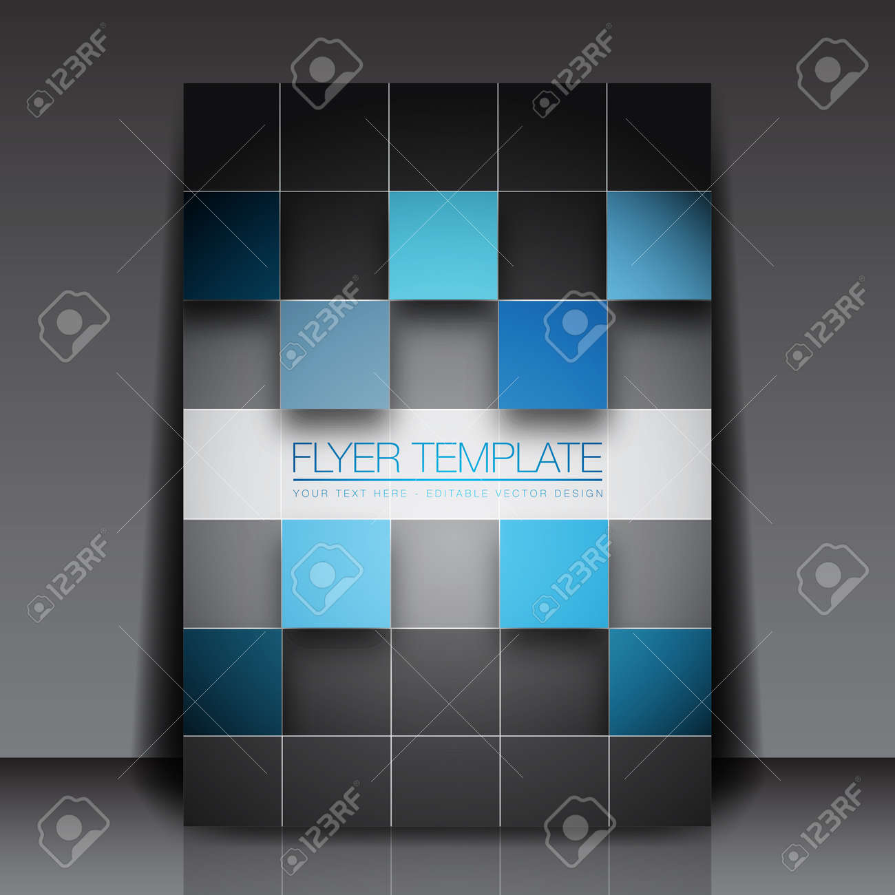 3d squares business flyer template royalty cliparts 3d squares business flyer template stock vector 15282624