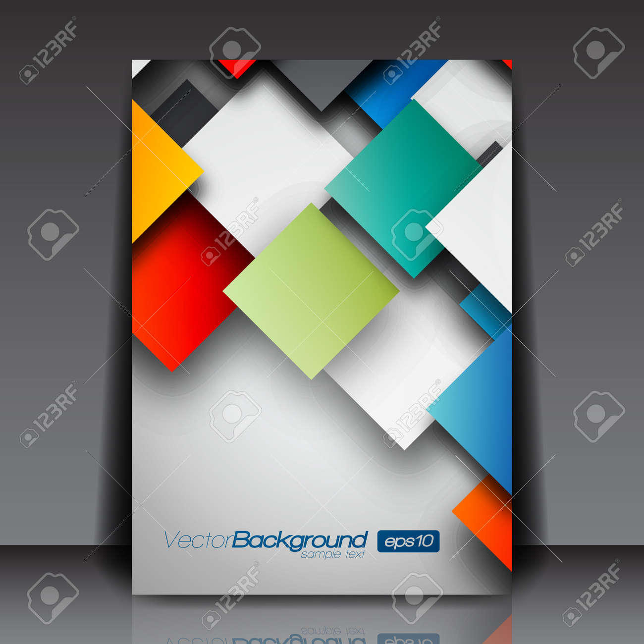 colorful d squares business flyer template design royalty colorful 3d squares business flyer template design stock vector 15282711