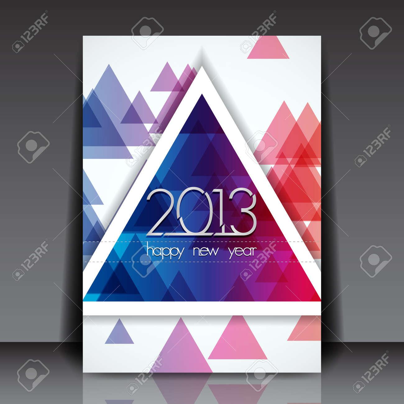 2013 New Year Editable Flyer Template Stock Vector - 15775554