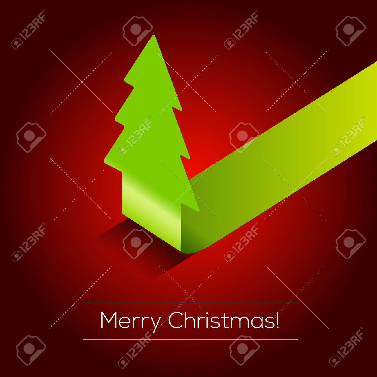 3D Christmas tree  background Stock Vector - 15775486