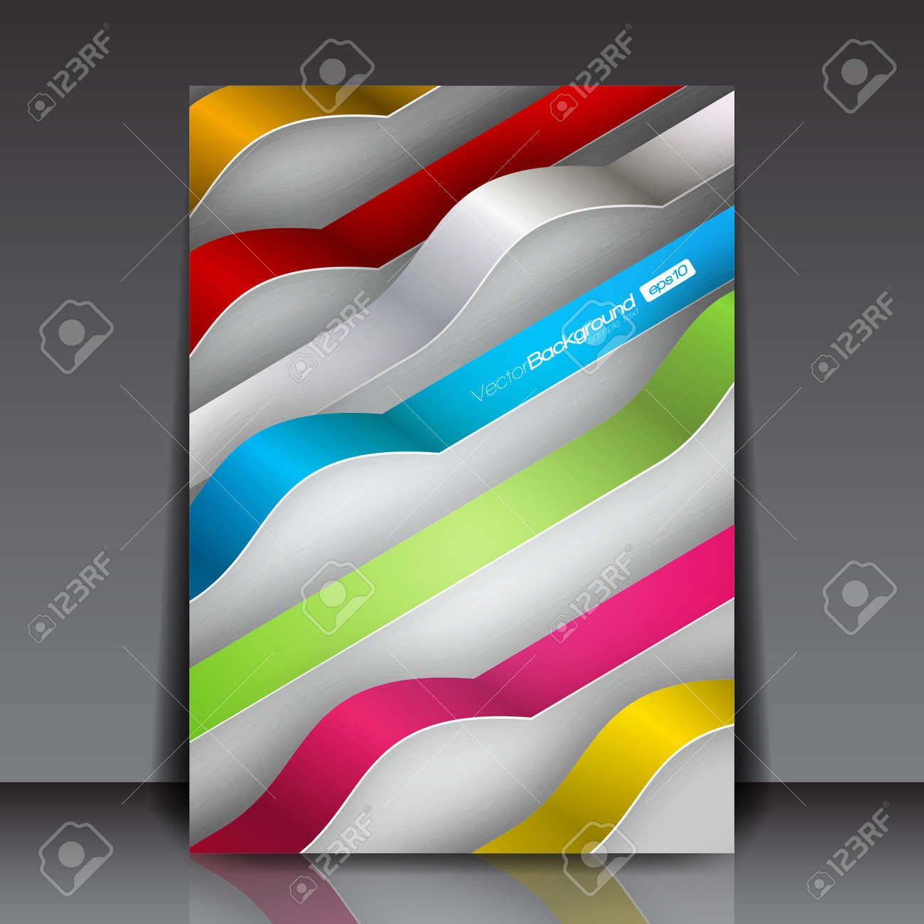 colorful d lines business flyer template royalty cliparts colorful 3d lines business flyer template stock vector 15775737