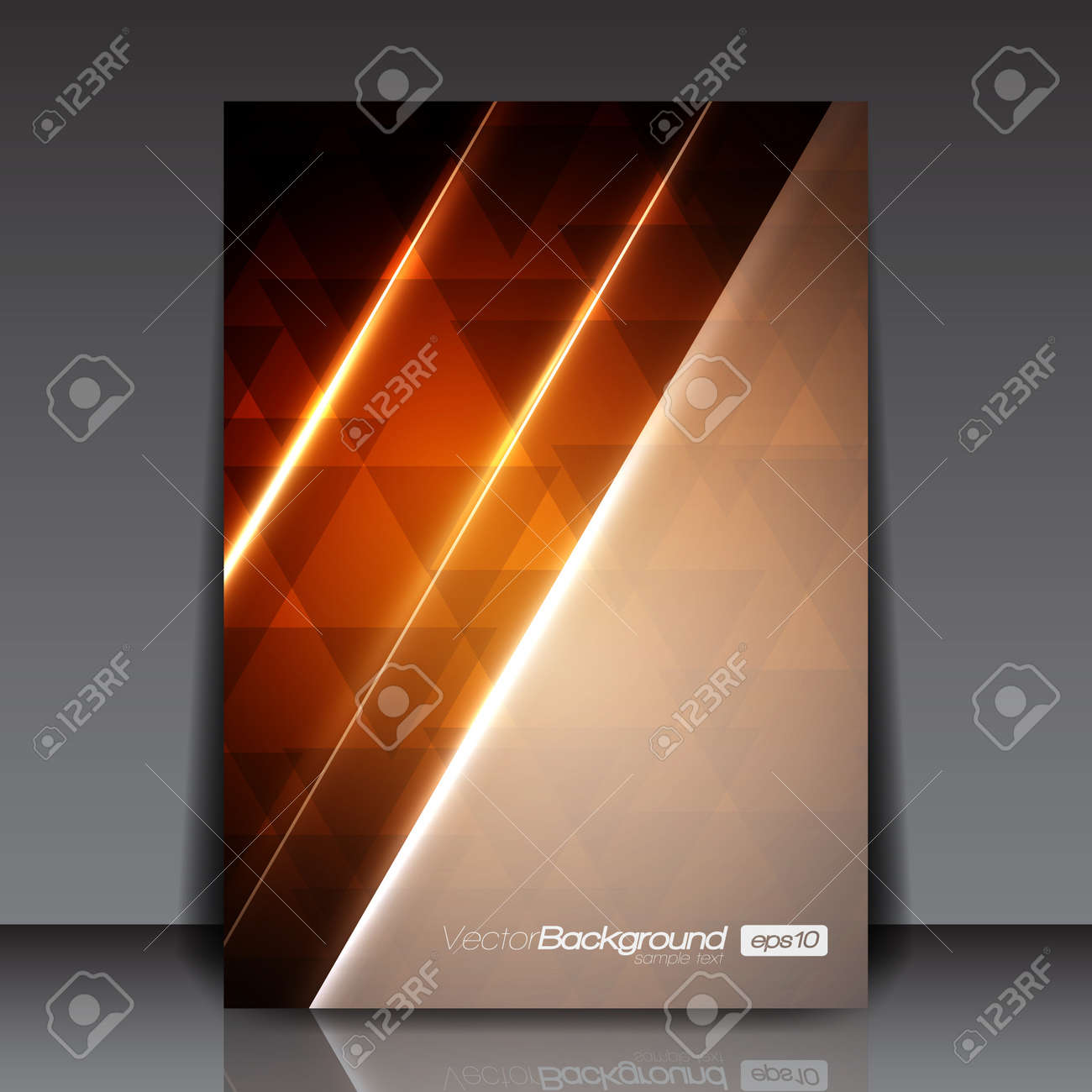 Abstract Modern Orange Flyer for You Stock Vector - 15775524