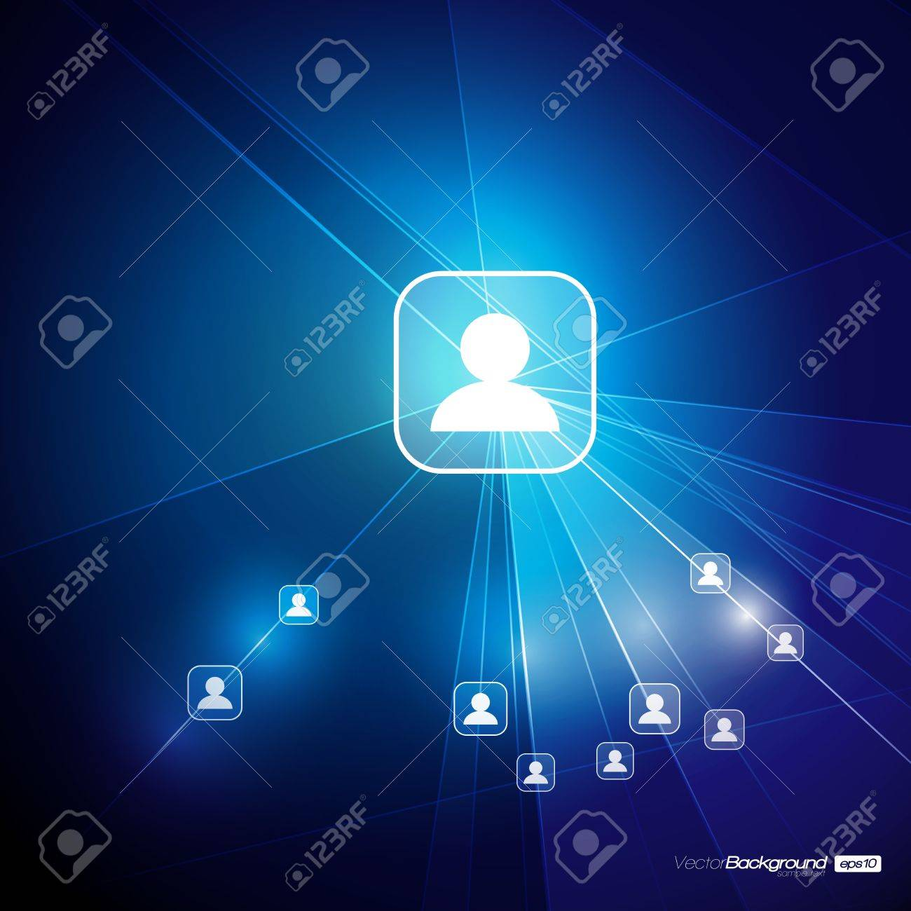 Social Media Abstract Illustration   Communication in the Global Computer Networks   EPS10 Vector Design Stock Vector - 18098204