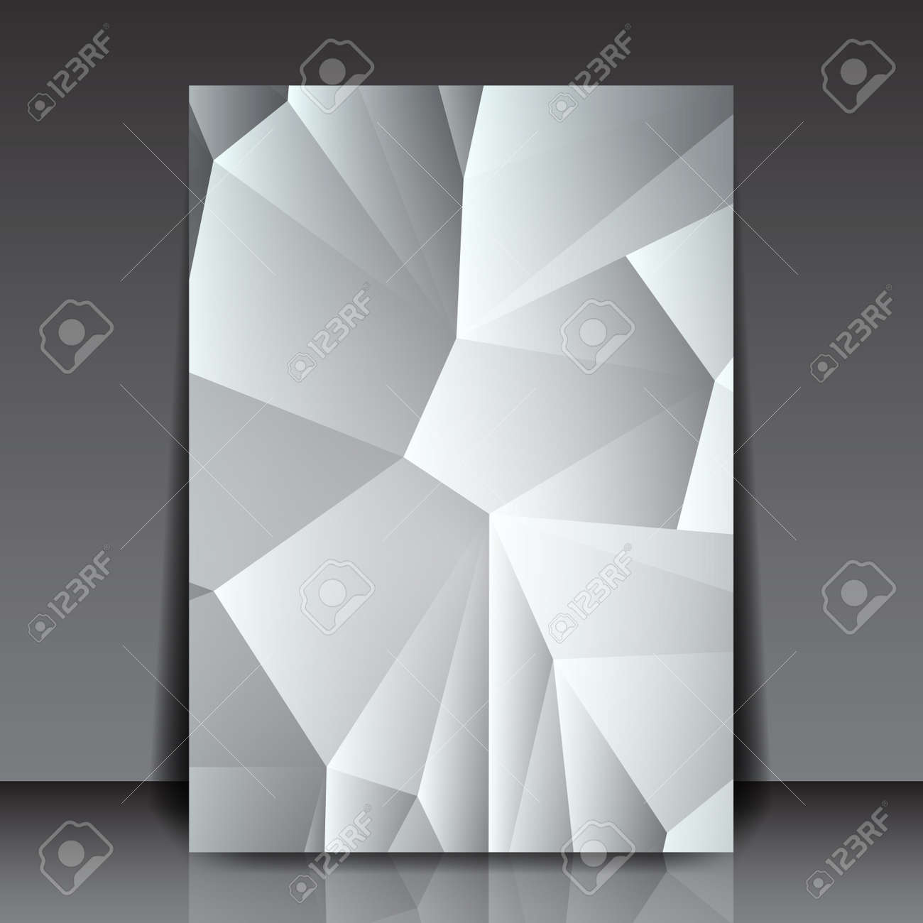 Abstract Triangle Flyer Background Paper Layout Design ...