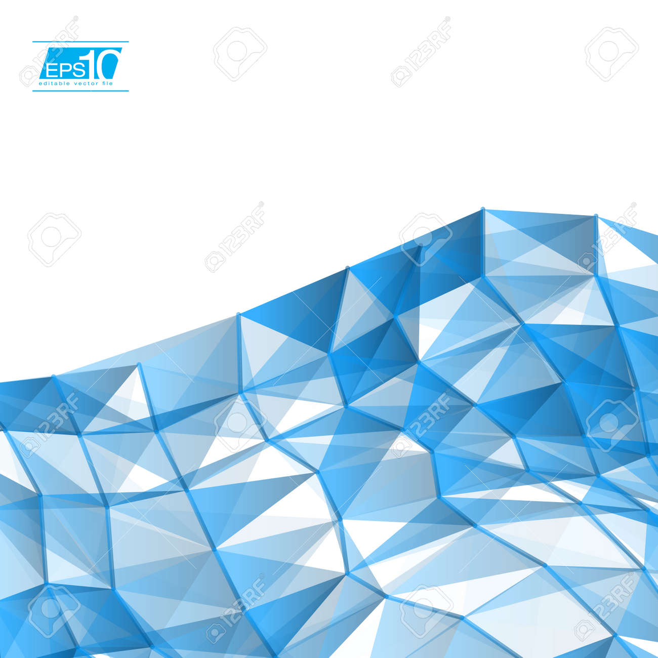 Blue Abstract Triangles Vector Background   EPS10 Business Layout Stock Vector - 18333515