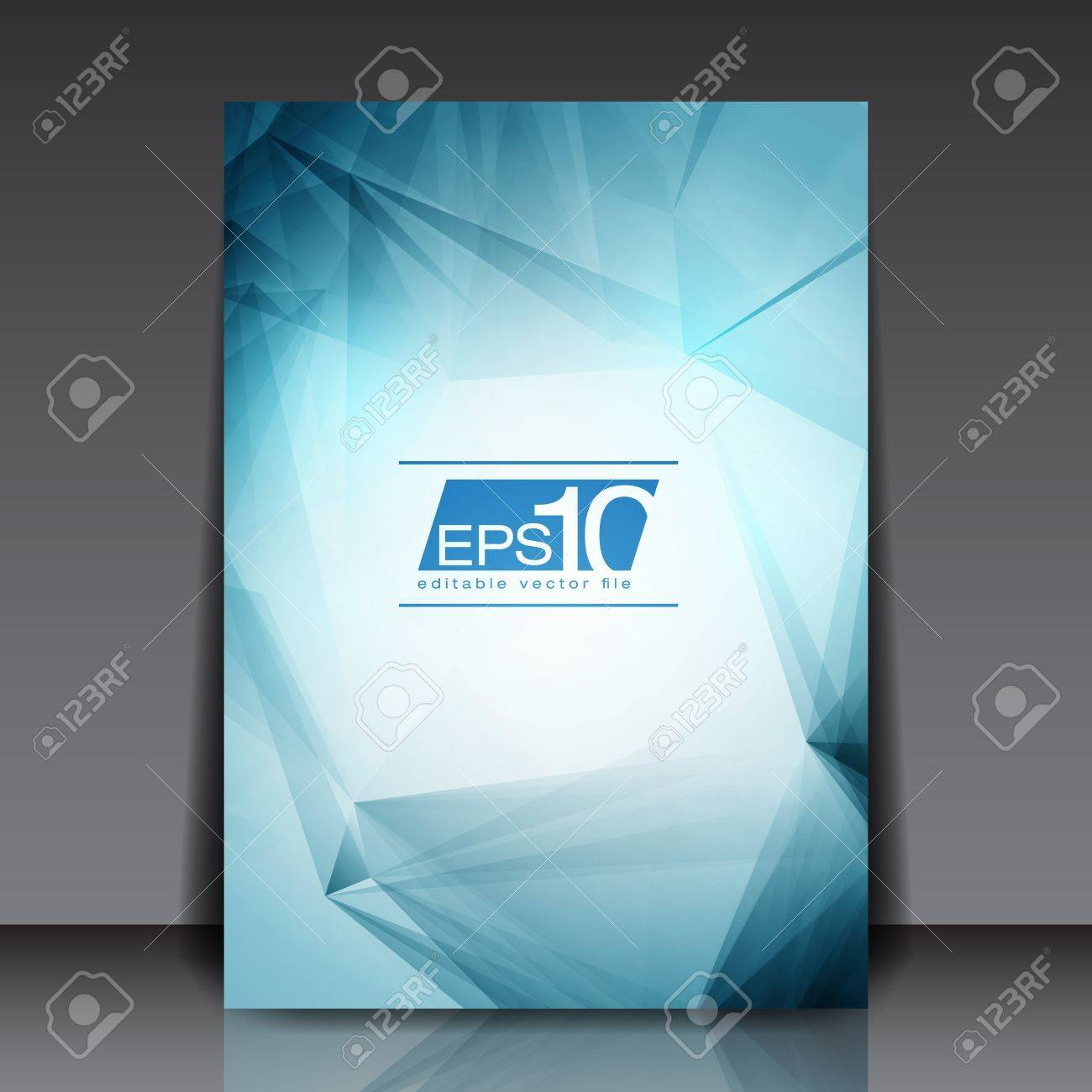 Abstract Blue Flyer Stock Vector - 18946502