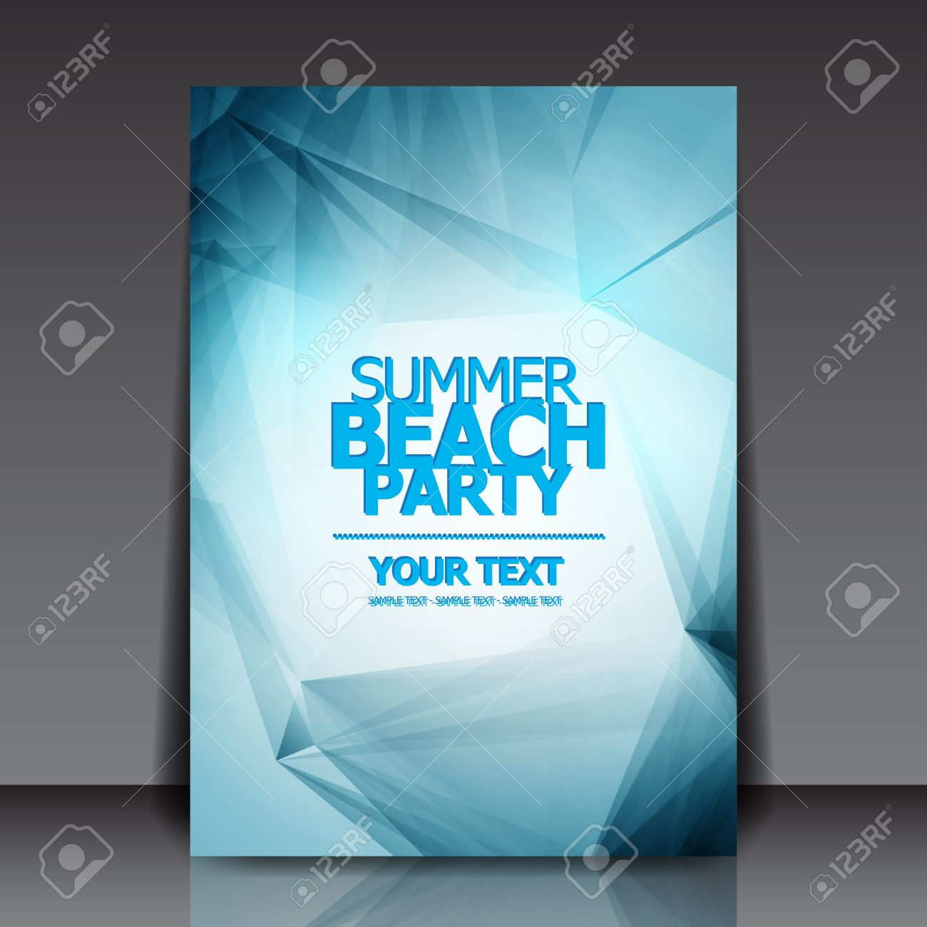 Design for Summer Party Flyer Stock Vector - 18946501