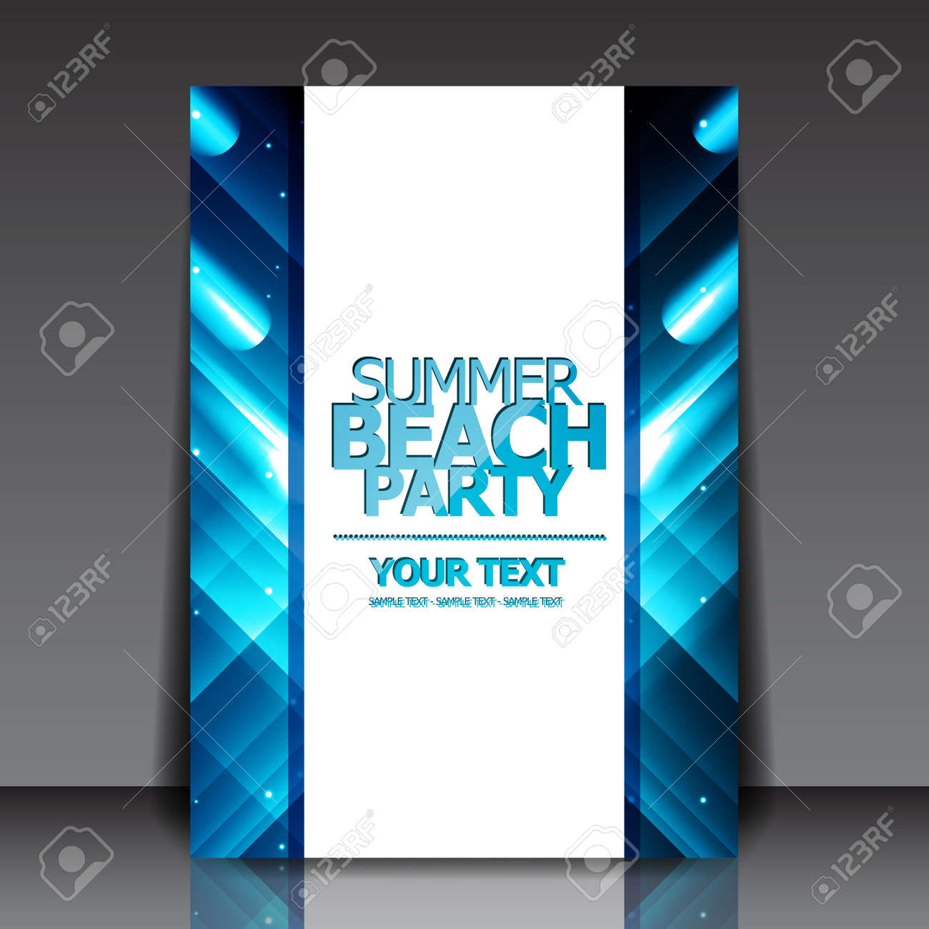 Design for Summer Party Flyer Stock Vector - 18946498