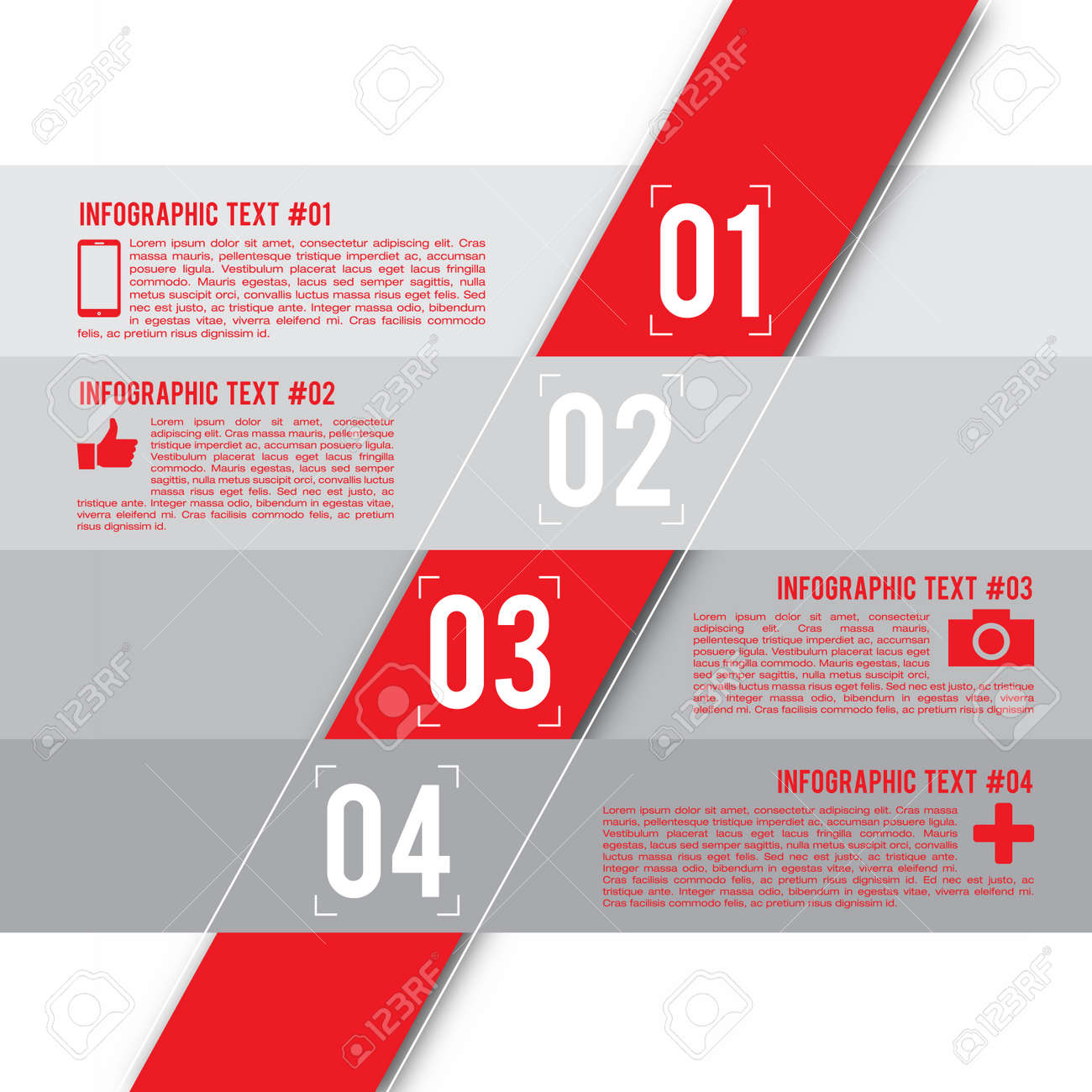 Modern Design Layout Infographic Elements Royalty Free Cliparts ...