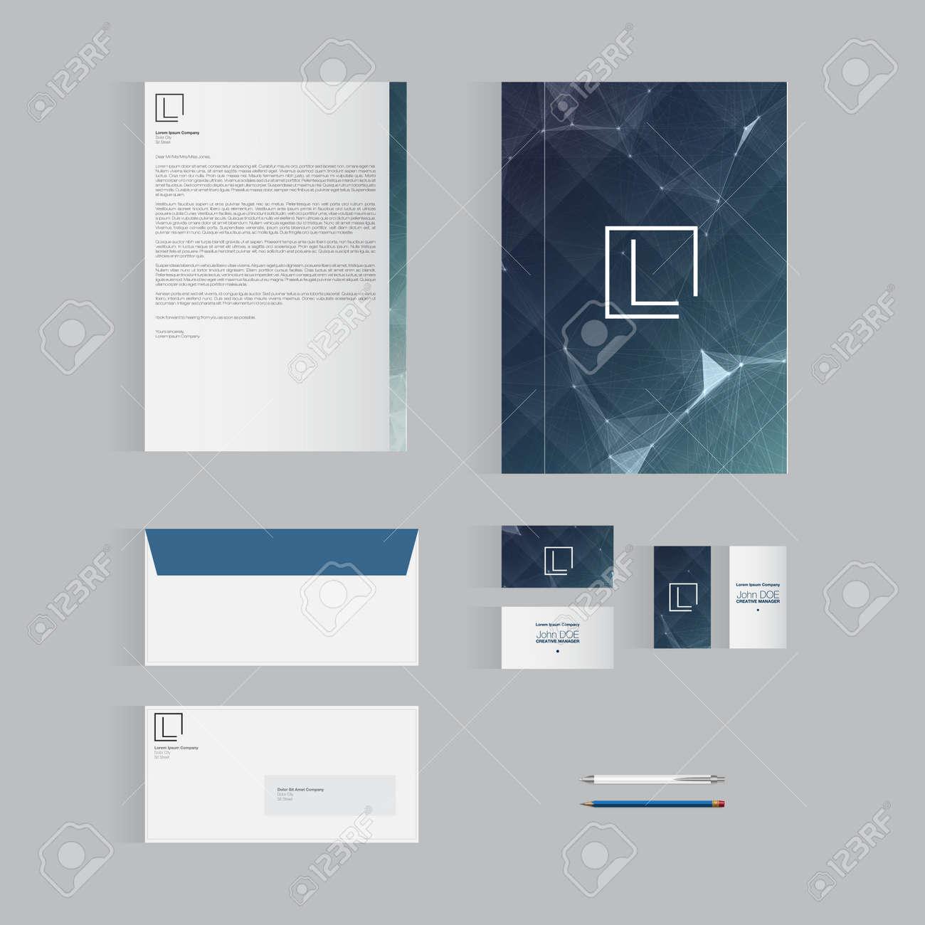 Stationery Template | Blau Stationery Template Design Fur Ihr Unternehmen Moderne Vector
