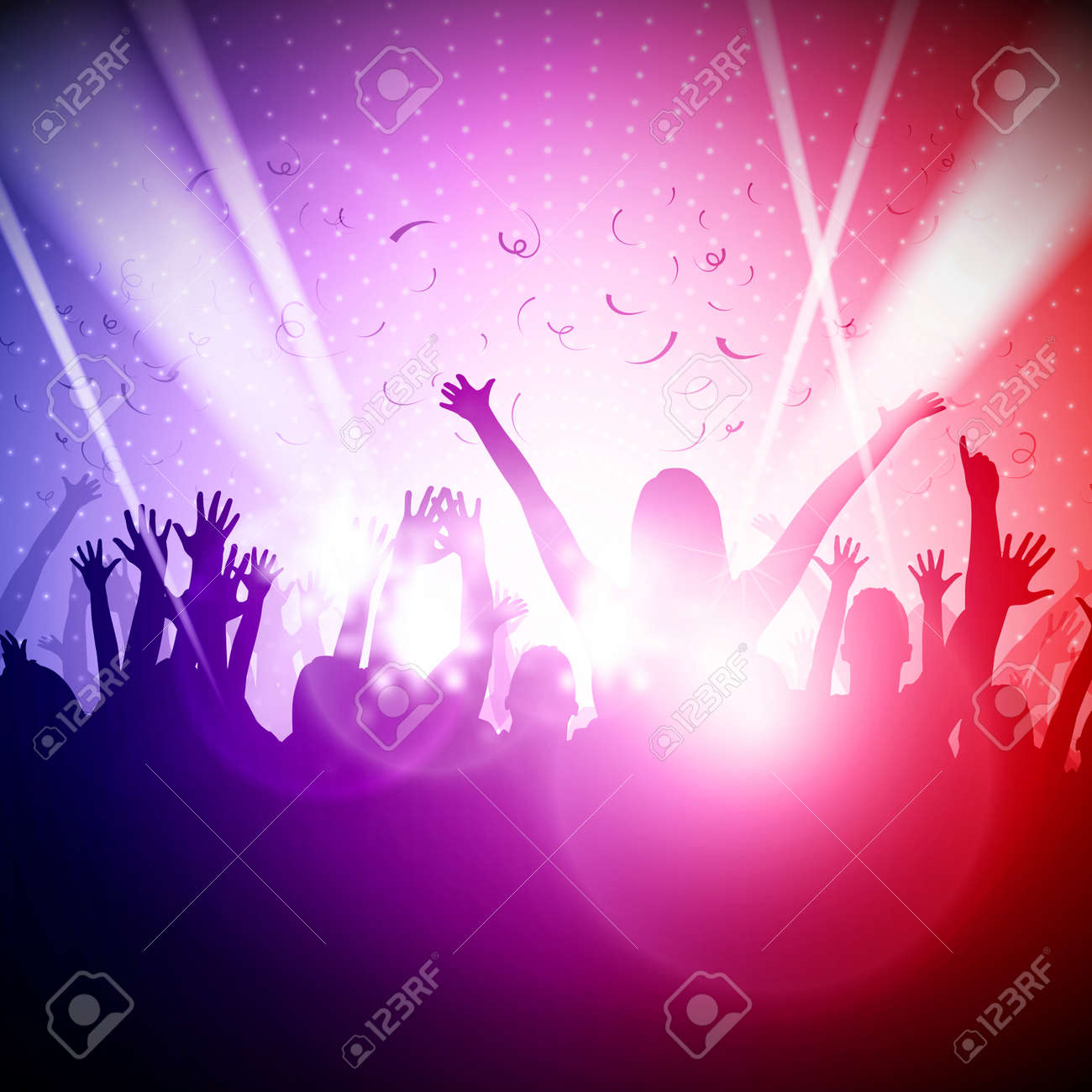 Party People in Club Vector Background - 38581175