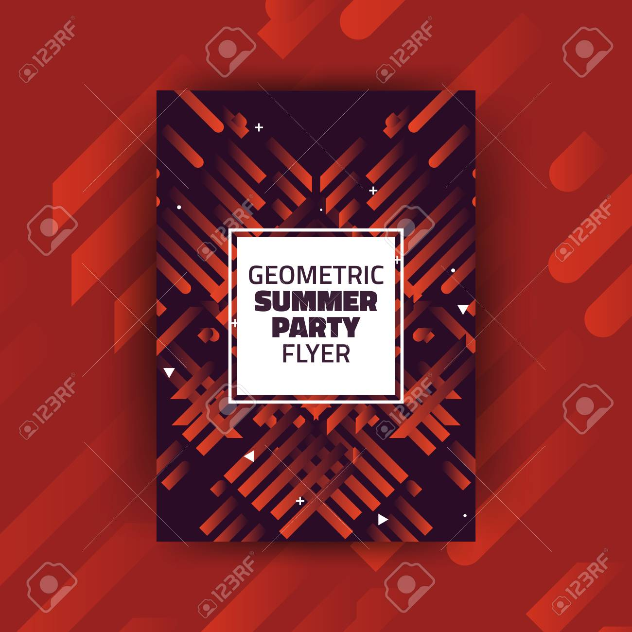 Abstract Summer Party Minimalist Poster Template Design