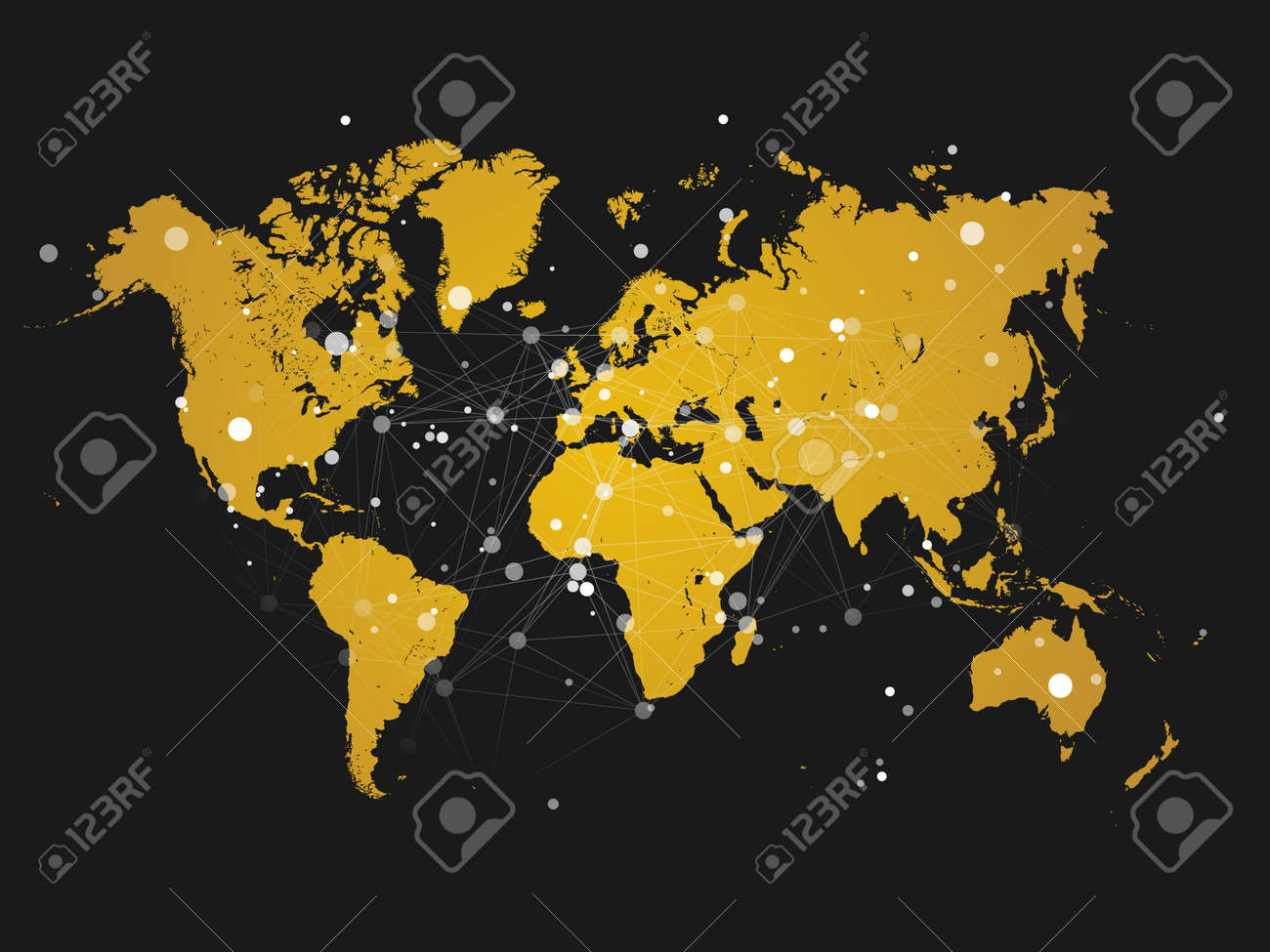 World map silhouette with connection grid vector illustration vector world map silhouette with connection grid vector illustration background network concept design gumiabroncs Image collections