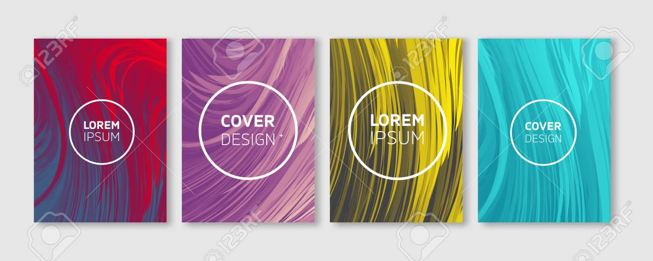 minimal vector covers design cool vibrant colors feather