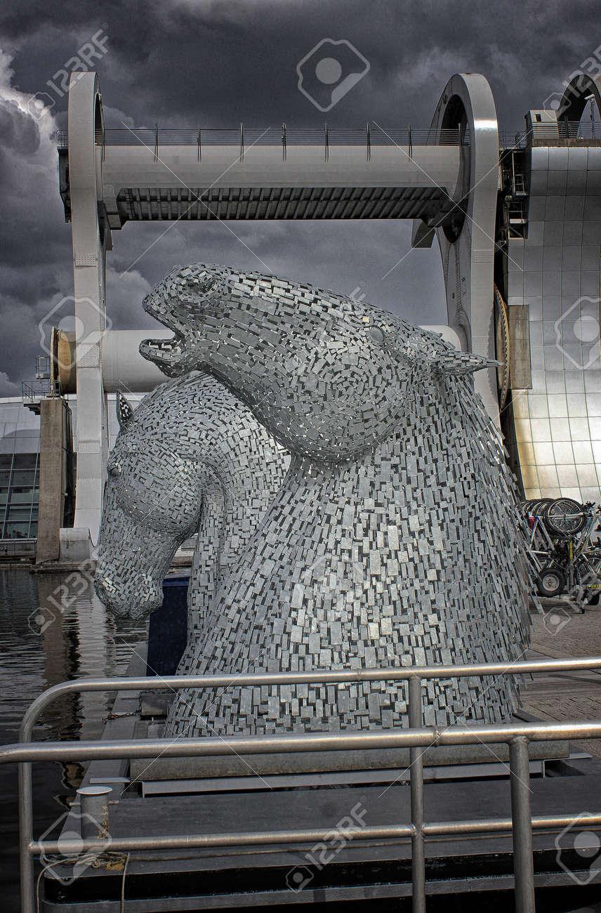 Horse Sculpture, Falkirk Wheel, Scotland Stock Photo - 19959914
