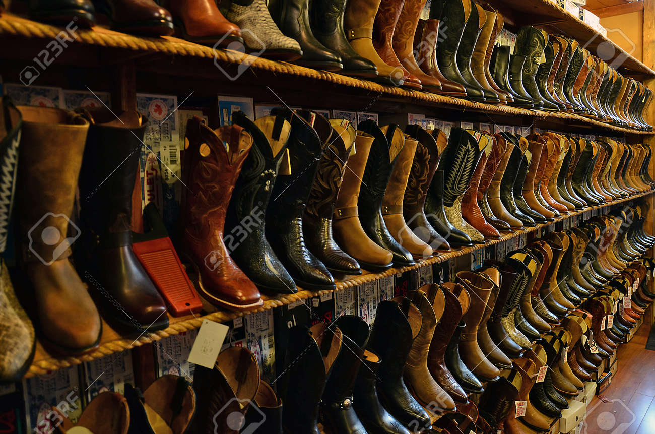 Cowboy Boots Collection Stock Photo, Picture And Royalty Free ...
