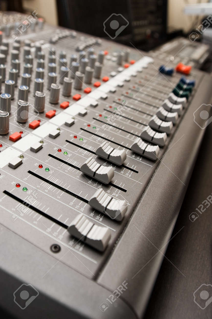 Close shot of professional audio recording equipment for multiple purposes Stock Photo - 8647694