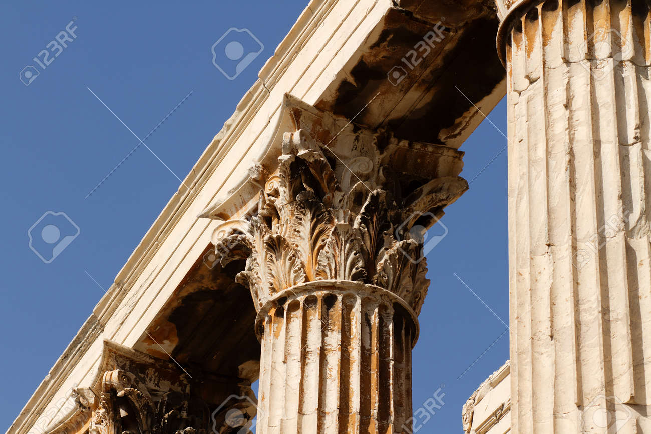 The Temple Of Olympian Zeus Also Known As The Olympieion Or Stock