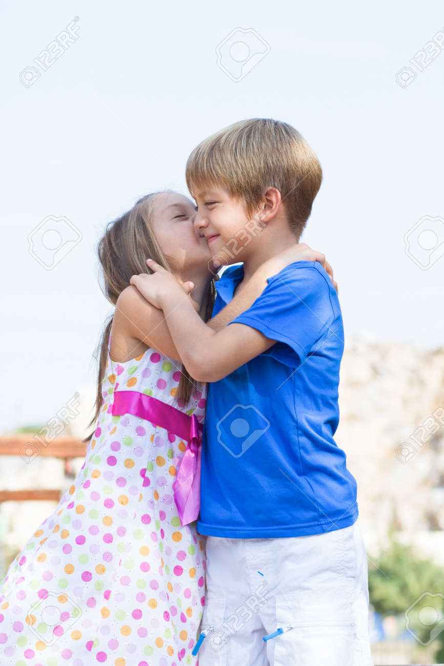 Cute little children on the playground at bright summer day stock cute little children on the playground at bright summer day stock photo 19341288 thecheapjerseys Gallery