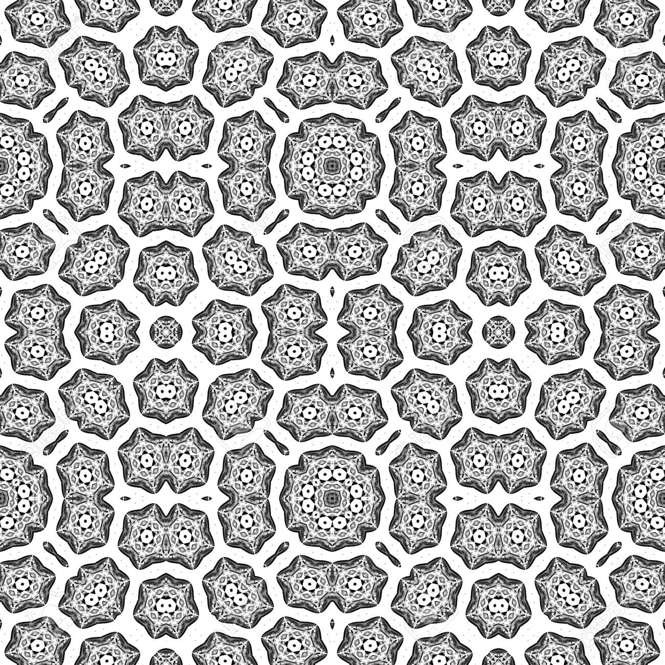 antistress coloring page kaleidoscopic mosaic seamless