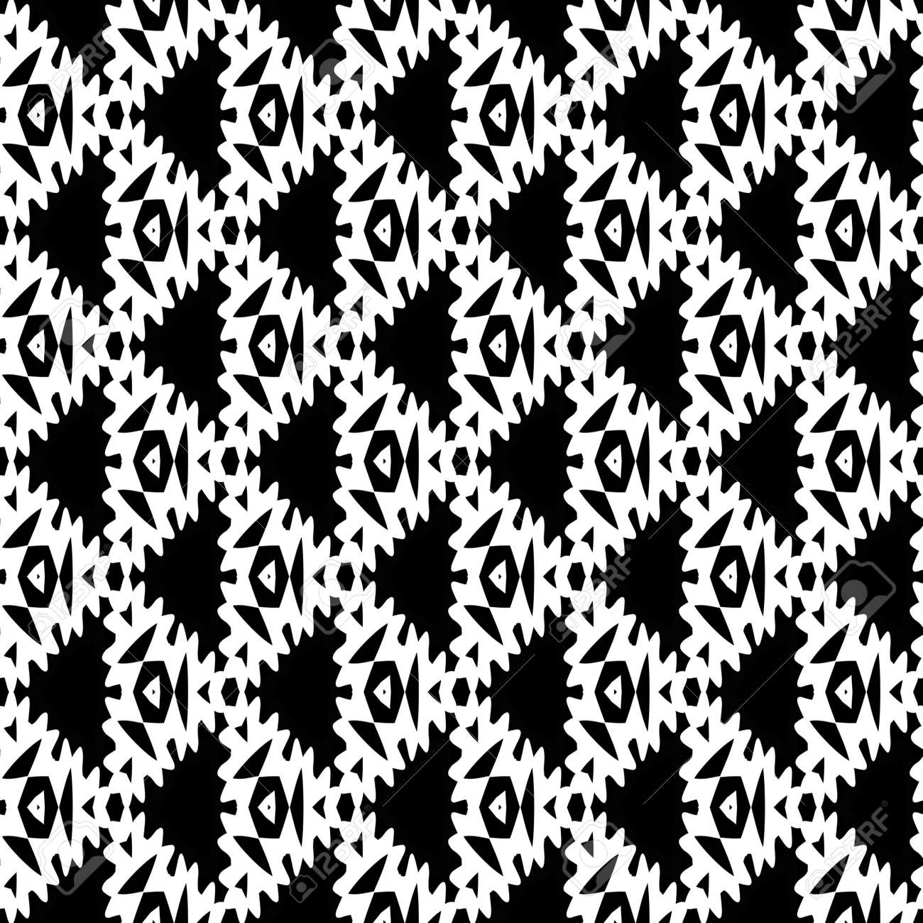 Coloriage Anti Stress Kaleidoscope.Adulte Page A Colorier Antistress Seamless Texture Mosaique