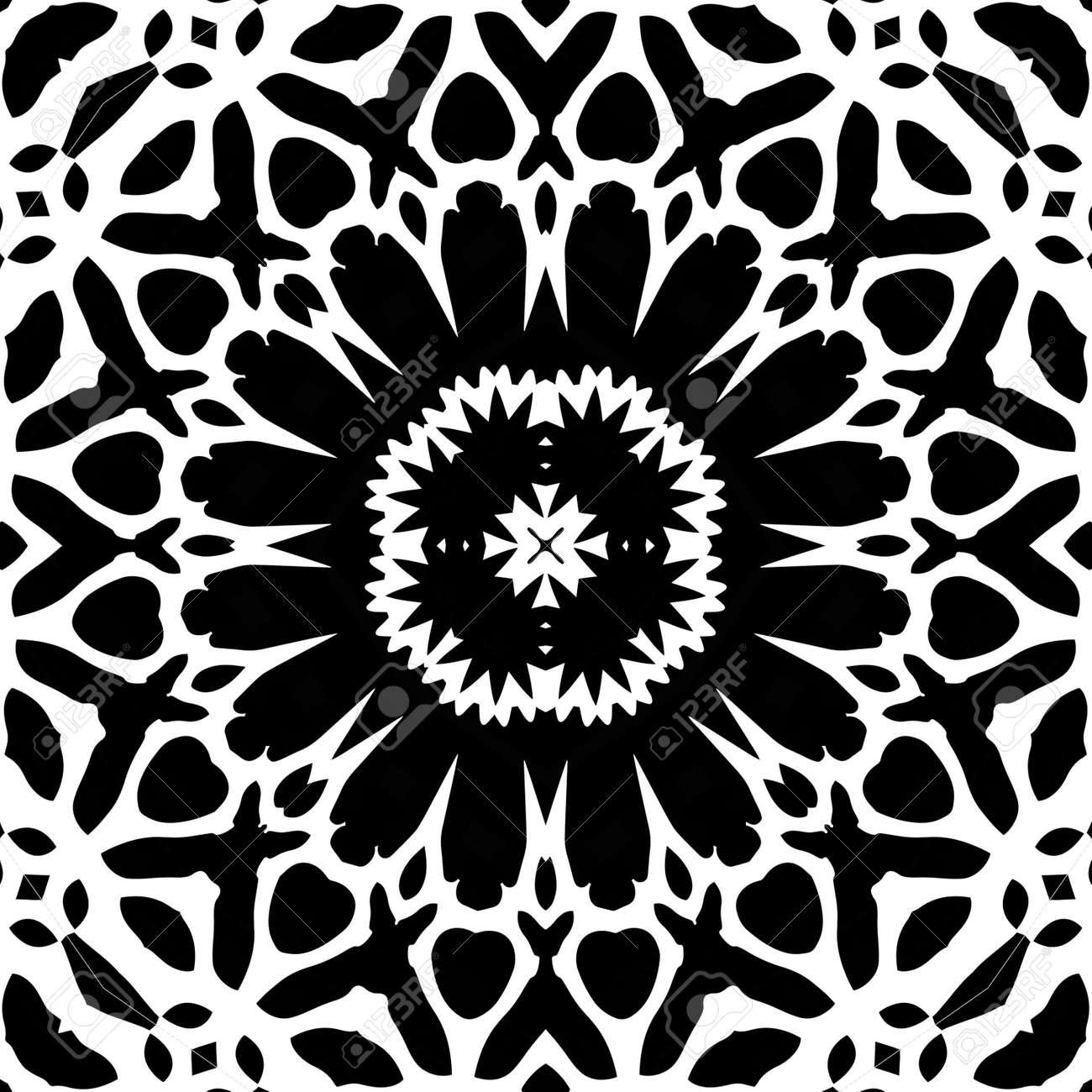 Coloriage Antistress Adulte Texture Transparente Mosaique