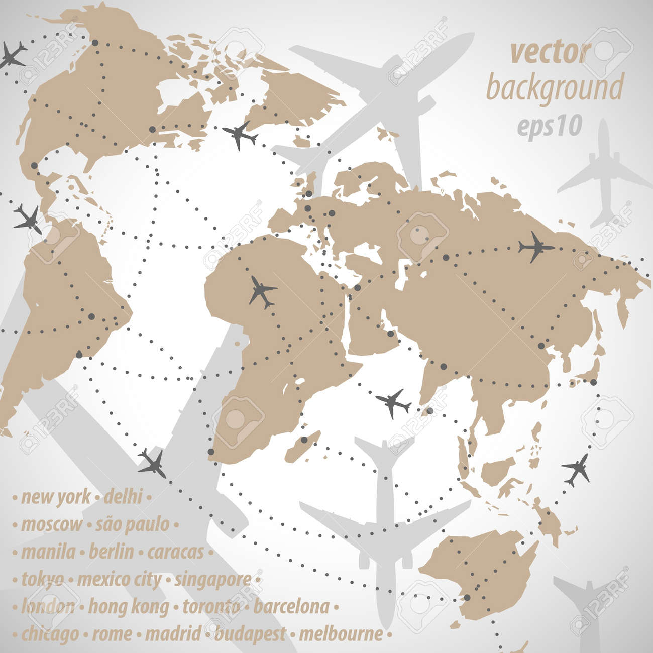 World map flight travel illustration royalty free cliparts vectors vector world map flight travel illustration gumiabroncs Images