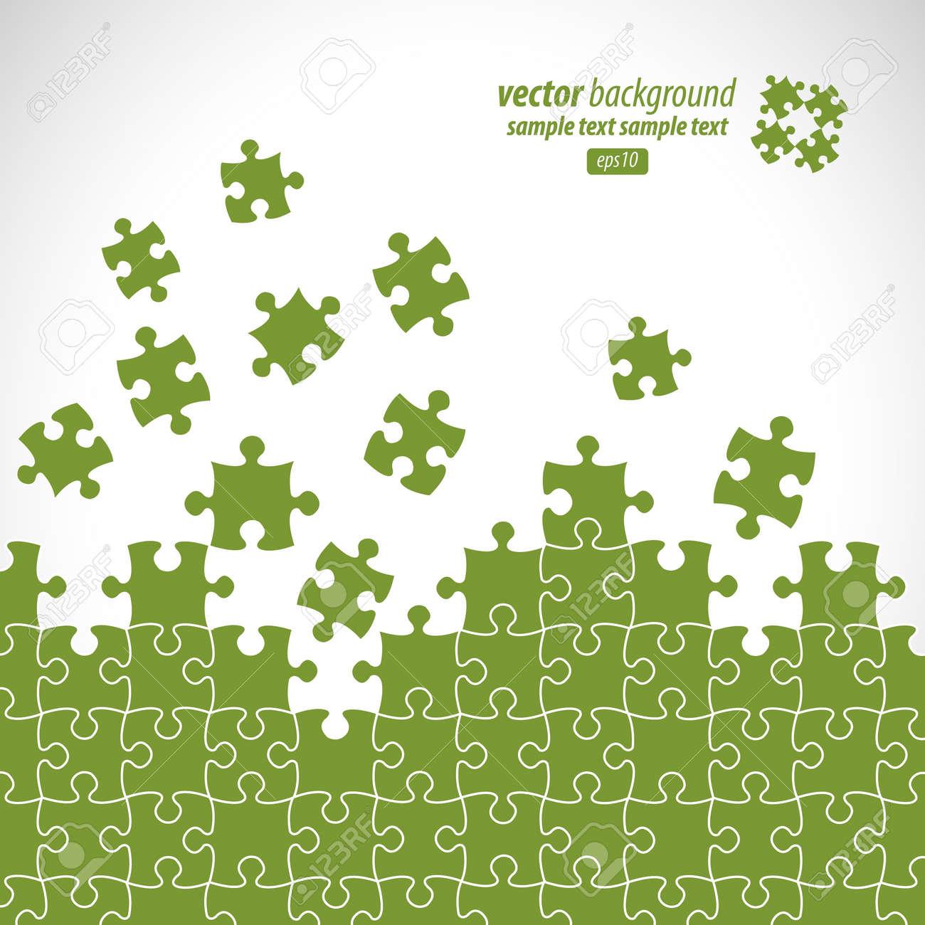 Puzzle pieces vector design Stock Vector - 9865960