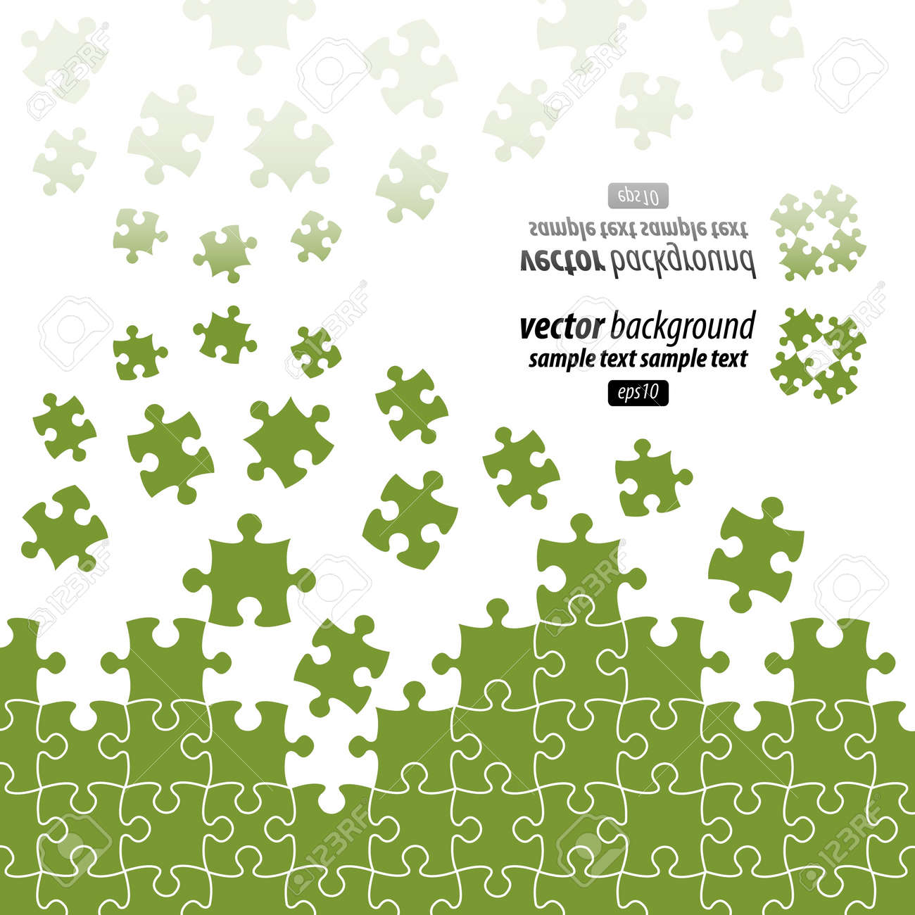 Puzzle pieces vector design reflected Stock Vector - 9865970