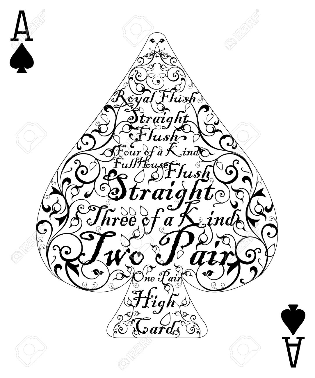 Poker Cards Hearts Poker Card Spade Ace The