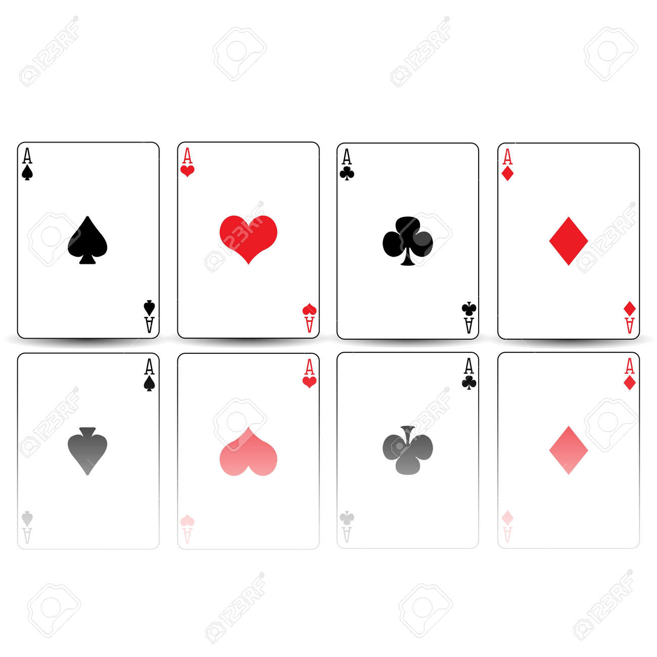 Poker Cards Hearts Poker Card Spades Diamonds