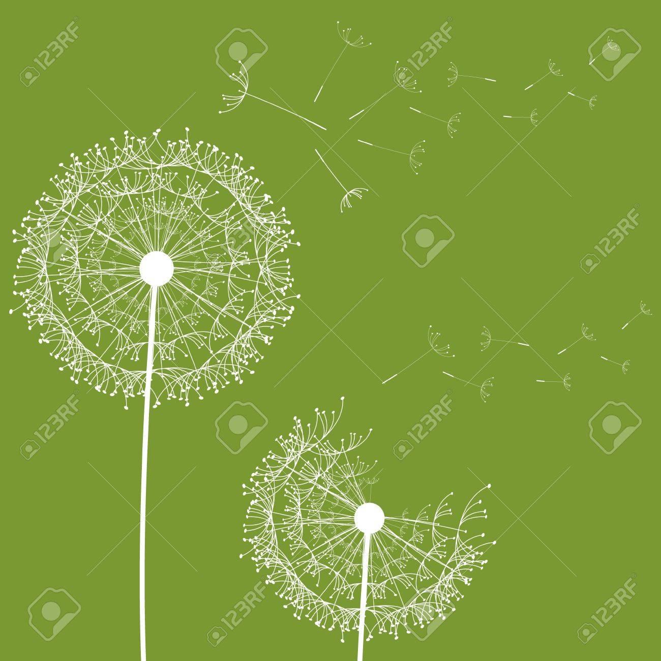 Dandelion flower desing design Stock Vector - 17667880